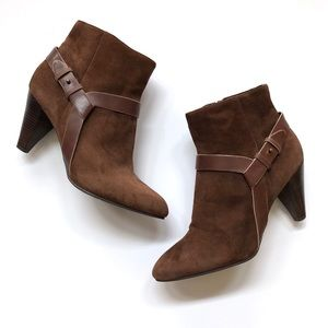 Cole Haan brown suede Calico ankle booties
